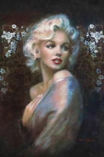Marilyn Monroe Portrait by Theo Danella Movie Poster 24x36
