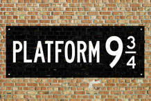 Train Platform 9 3/4 King Cross London Movie Poster 36x24 inch