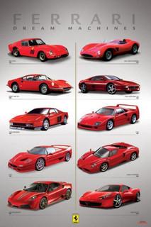 Ferrari Dream Machines Poster - 24x36