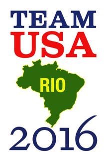 Rio De Janeiro Team USA 2016 Summer Games Brazil White Poster - 12x18