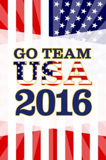 Rio De Janeiro Go Team USA 2016 Summer Games Brazil Colorburst Flag Stars And Stripes Poster - 12x18