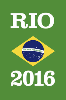 Rio De Janeiro Brazil 2016 Games Ordem E Progresso Green Poster - 12x18