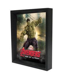 Hulk Age of Ultron Framed Shadow Box 3D Poster 8x10
