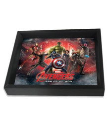Avengers Age of Ultron Line Up Framed Shadow Box 3D Poster - 10x8