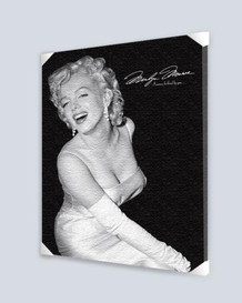 Marilyn Monroe Loved By You Stretched Canvas - 24x36