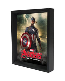 Captain America Age of Ultron Framed Shadow Box 3D Poster 8x10