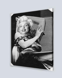Marilyn Monroe Reclining Stretched Canvas - 24x36