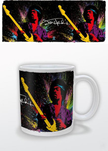 Jimi Hendrix Paint Splatter Rock And Roll Electric Guitarist Singer Songwriter Music Coffee Mug