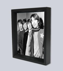 Beatles Line Up Framed Shadow Box 3D Poster 8x10