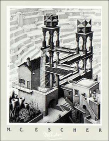 M.C. Escher Waterfall Thick Cardstock Poster - 19.5x27.5