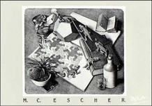 M.C. Escher Reptiles Thick Cardstock Poster - 27.5x19.5