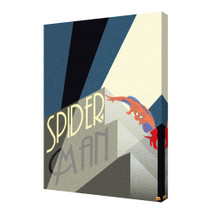 Spider-Man Art Deco Light Marvel Comics Superhero Peter Parker Avengers Stretched Canvas - 24x36