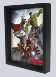 Avengers Age of Ultron Character Collage Framed Shadow Box 3D Poster 8x10