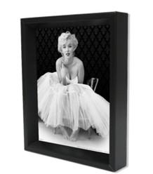 Marilyn Monroe Ballerina Hollywood Glamour Celebrity Icon Photo Framed Shadow Box 3D Poster - 8x10