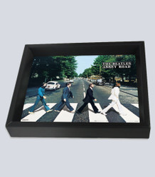 Beatles Abbey Road Framed Shadow Box 3D Poster 8x10