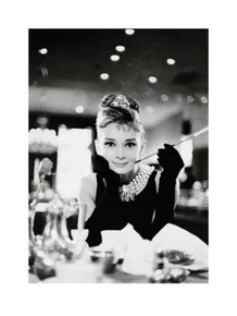 Audrey Hepburn Breakfast at Tiffanys Romantic Comedy Movie Film Holly Golightly Poster - 24x32