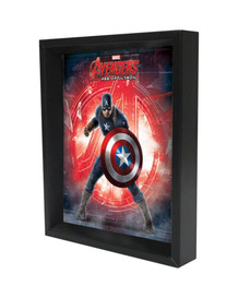 Captain America Age of Ultron Logo Framed Shadow Box 3D Poster 8x10
