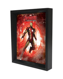 Iron Man Age of Ultron Logo Framed Shadow Box 3D Poster 8x10
