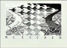 M.C. Escher Day And Night Thick Cardstock Poster - 27.5x19.5