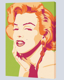 Marilyn Monroe Psychedelic Stretched Canvas - 24x36