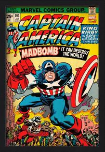 Captain America Volume 193 Framed Poster - 24x36