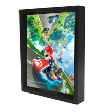 Mario Kart 8 Nintendo Kart Racing Video Game Series Wii U Framed Shadow Box 3D Poster 8x10