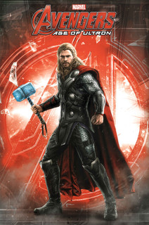 Thor Age of Ultron Logo Marvel Comics Superheroes Movie Film Poster - 24x36