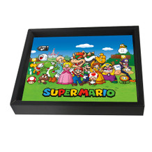 Super Mario Characters Nintendo Video Game Series Luigi Yoshi Framed Shadow Box 3D Poster - 10x8