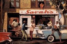 Sarah Jenkins Sarahs Bar BQ BBQ Art Print Thick Cardstock Poster 36x24