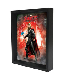 Thor Age of Ultron Logo Marvel Comics Superheroes Movie Film Framed Shadow Box 3D Poster 8x10