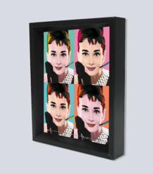 Audrey Hepburn Pop Art Framed Shadow Box 3D Poster 8x10