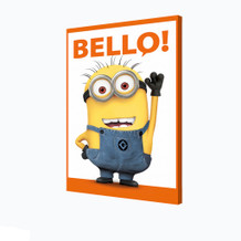 Minions Bello Banana Language For Hello Despicable Me Animated Movie Film Stretched Canvas - 24x36