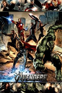 Avengers Marvel Comics Superheroes Team Hulk Captain America Lineup Poster - 24x36