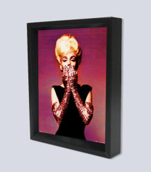 Marilyn Monroe Pink Gloves Framed Shadow Box 3D Poster 8x10