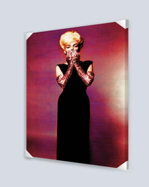 Marilyn Monroe Pink Gloves Stretched Canvas - 24x36