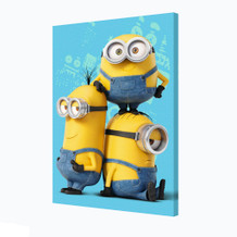 Minions Names Animated Comedy Movie Despicable Me Bob Kevin Stuart Stretched Canvas - 24x36