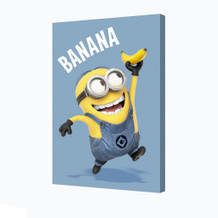 Minions Banana Computer Animated Comedy Movie Despicable Me Bob Running Stretched Canvas - 24x36