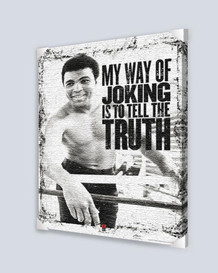 Muhammad Ali Truth Stretched Canvas - 24x36