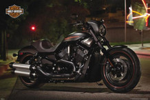 Harley Davidson Night Rod Motorcycle Poster - 36x24