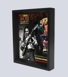 Bob Marley Framed Shadow Box 3D Poster - 8x10