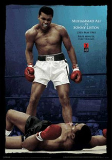 Muhammad Ali vs. Liston Color Lenticular 3-D Poster - 11x17