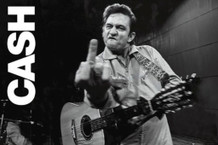 Johnny Cash Middle Finger San Quentin Prison Music Poster 36x24