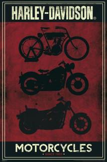 Harley Davidson Motorcycles Poster - 24x36