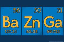 Ba Zn Ga Elements Science Television Poster - 18x12