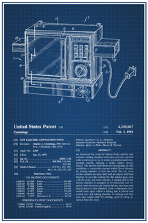 Easy-Bake Oven Retro Toy Official Patent Blueprint Poster - 12x18