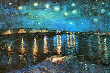 Vincent Van Gogh Starry Night Over the Rhone Art Print Poster 36x24