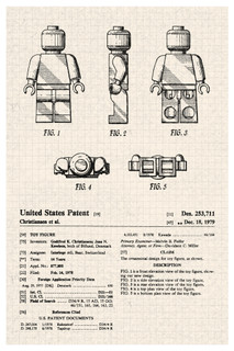 LEGO Minifigure Toy Official Patent Diagram Poster 12x18