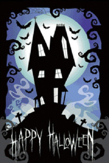Haunted House Glow in the Dark Poster - 24x36