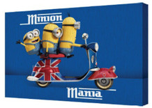 Minions Mania Despicable Me Animated Comedy Movie Bob Kevin Stuart Scooter Stretched Canvas 18x12