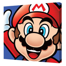 Super Mario Mario Character Nintendo Platform Video Game Series Mascot Stretched Canvas - 16x16